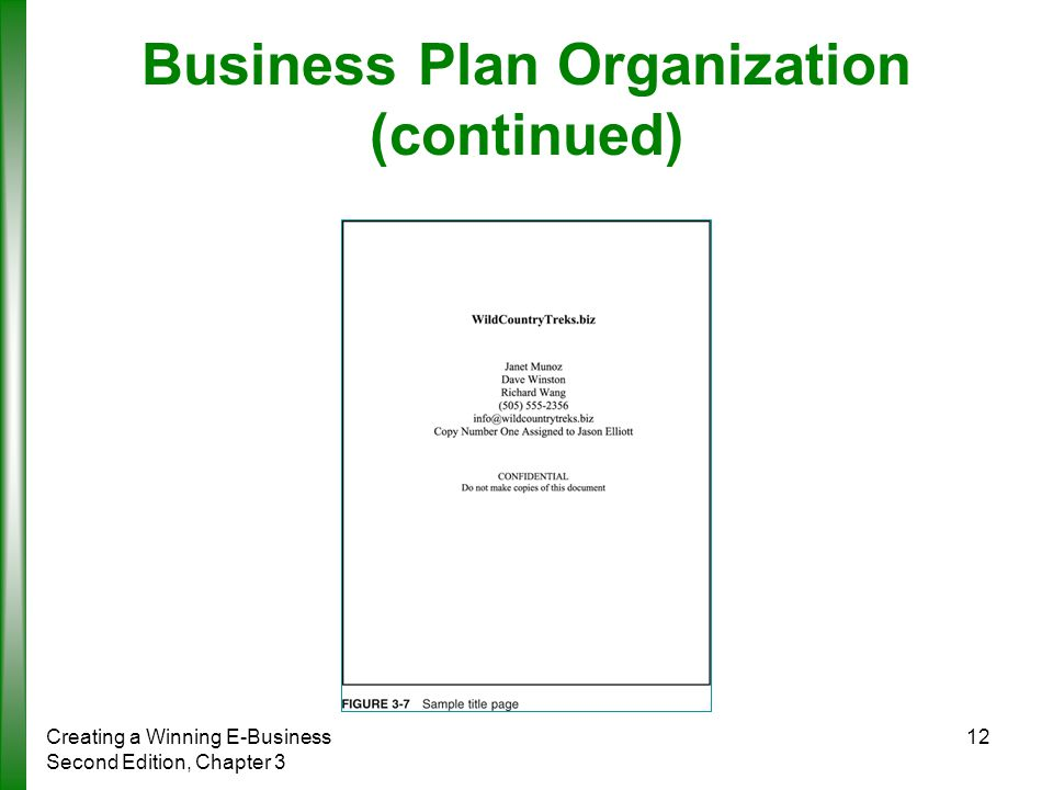 Sample business plan title page / ELSEWHERESUPERMARKETML - business plan title page sample