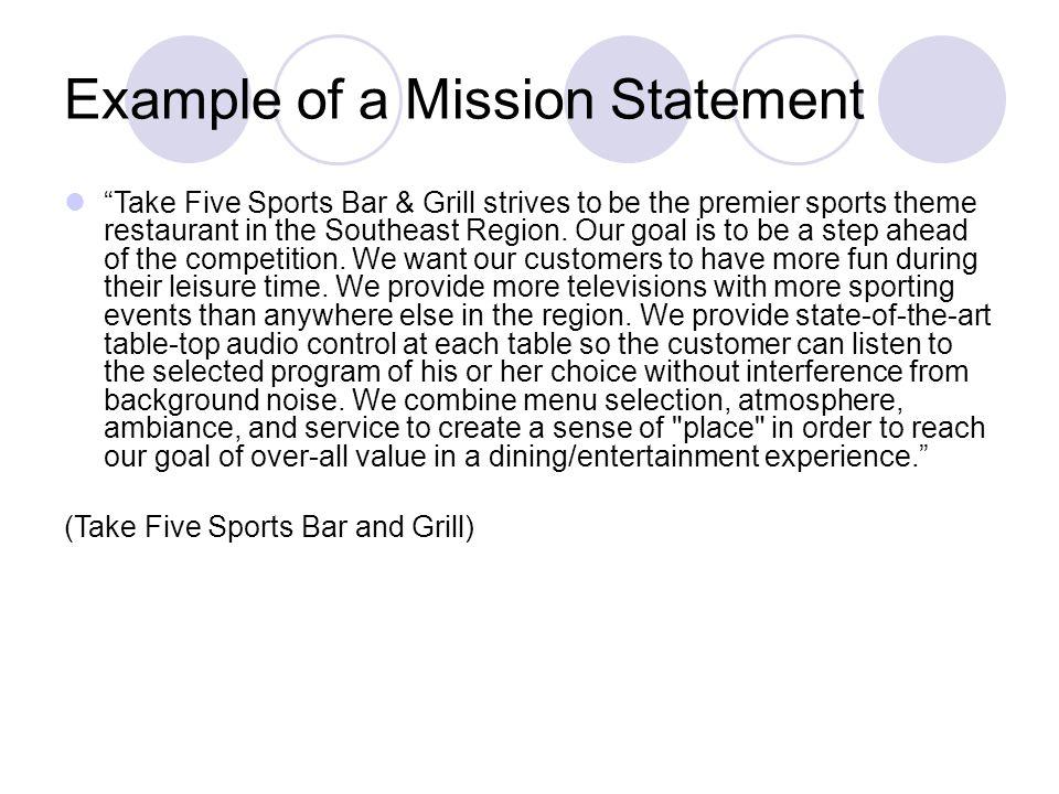 Restaurant Statement Cape George Fish N Chips Restaurant Statement - restaurant statement