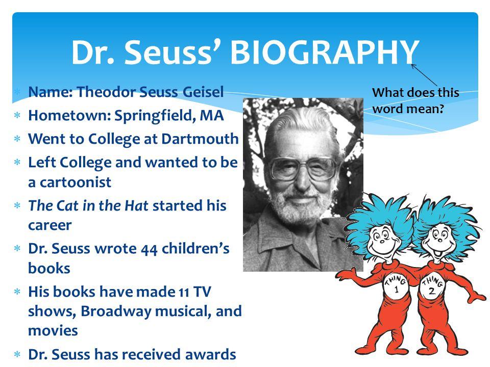 Seuss Printable Pdf Dr Biography