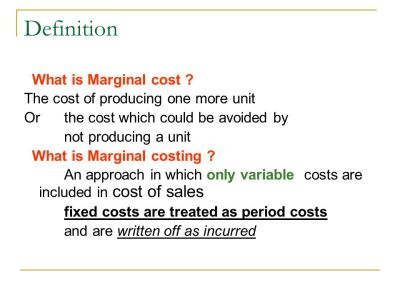 Welcome to the Presentation on Marginal Costing - ppt video online download