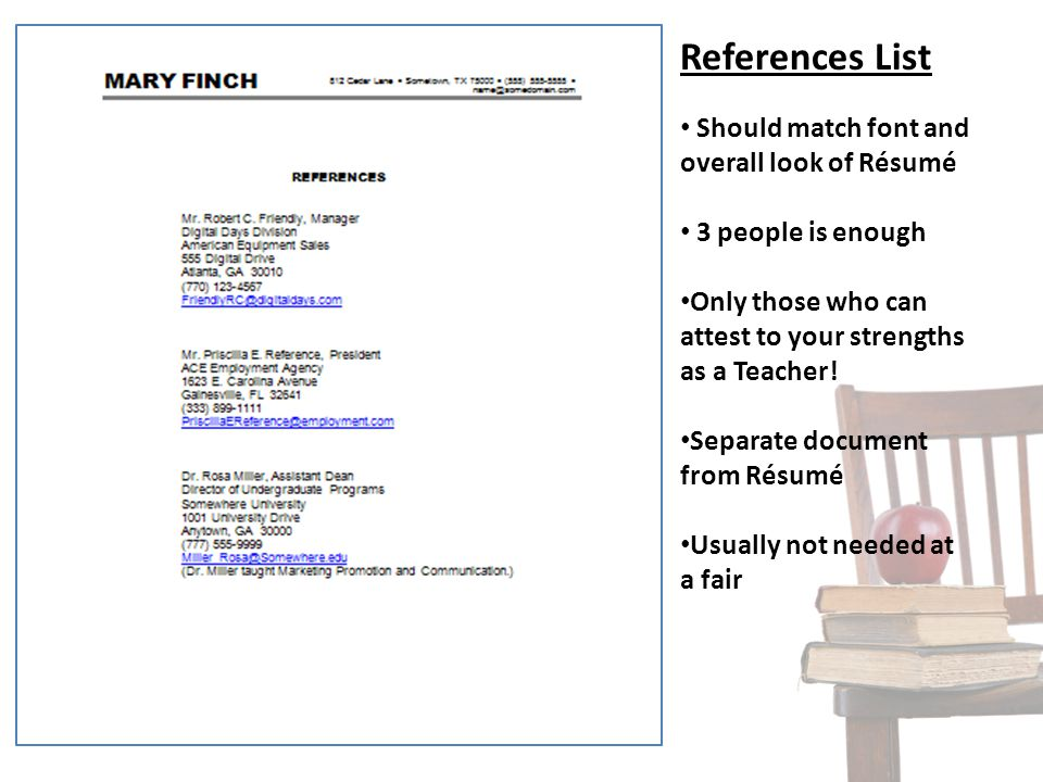 how should references look on a resumes - Intoanysearch