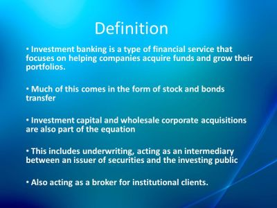 Role of investment bank in Money and Capital market - ppt video online download