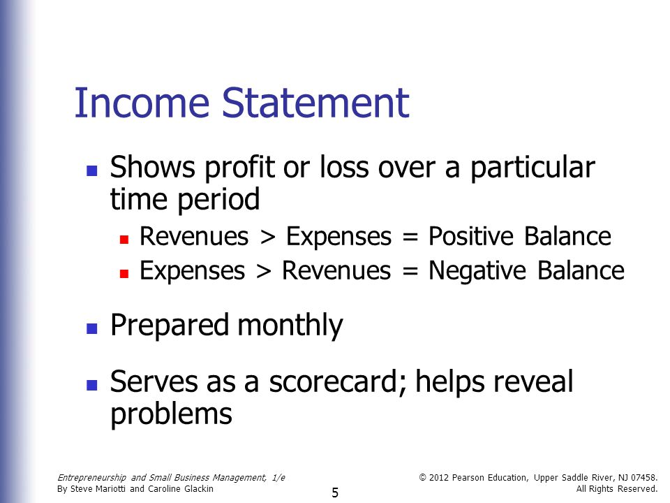 small business profit and loss statement