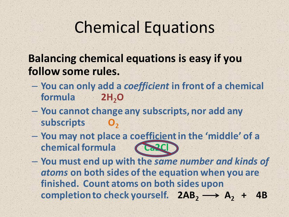 Balancing Chemical Equations Worksheet Answers Concept