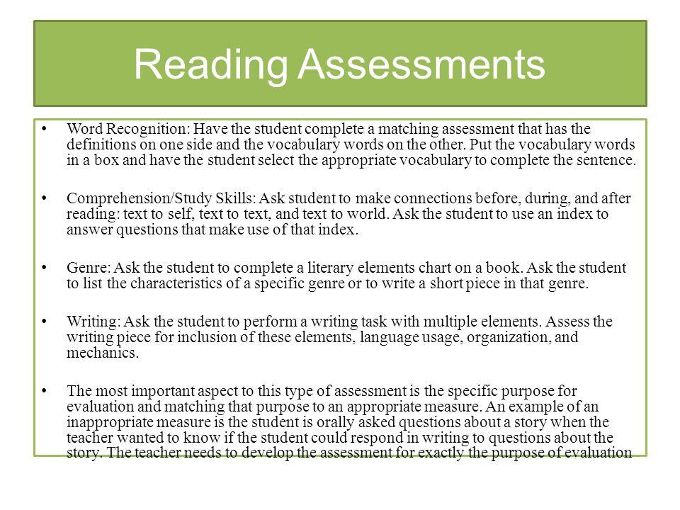 Advantage Of Using Informal Reading Inventory