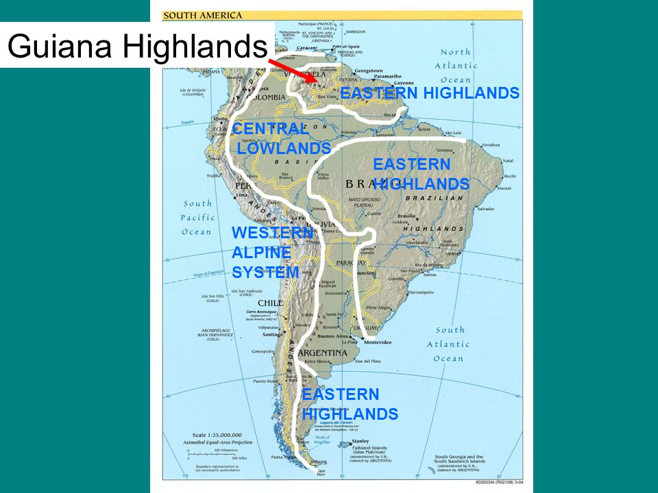 Guiana Highlands Map - Auto Electrical Wiring Diagram