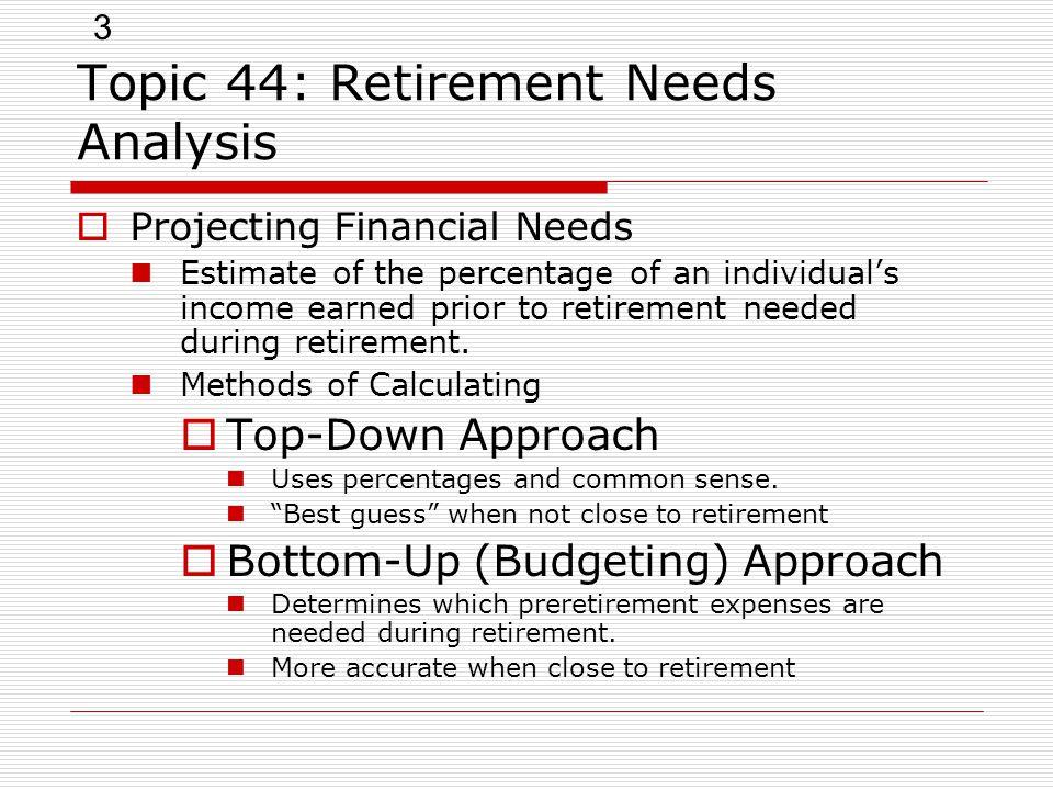 Topic 44 Retirement Needs Analysis - Ppt Video Online - training needs analysis template