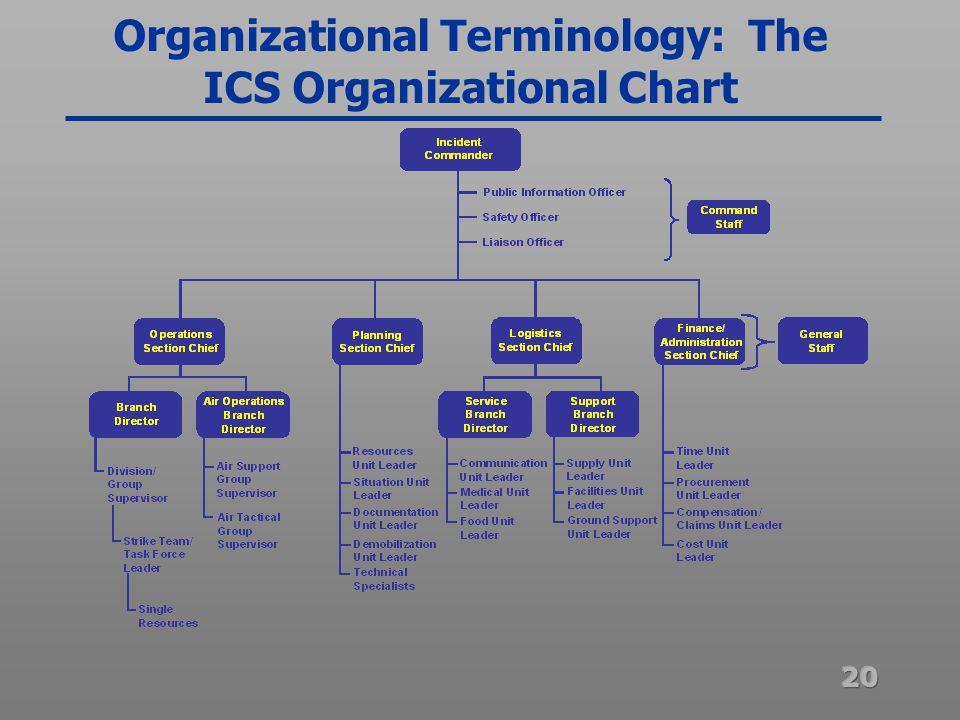 BASIC INCIDENT COMMAND SYSTEM FOR FEDERAL WORKERS (I-100/200) - ppt - ics organizational chart