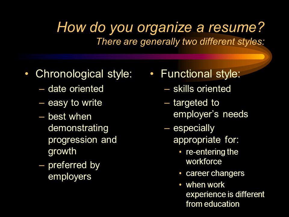Resume Writing You are what you write! - ppt video online download - how to organize a resume