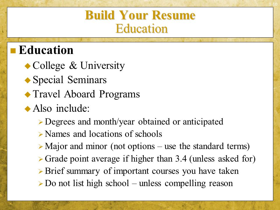 sounds simple doesnu0027t it ppt download how to build your resume - Build Your Resume