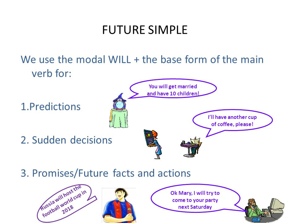 future tenses in English - ppt download - simple will form