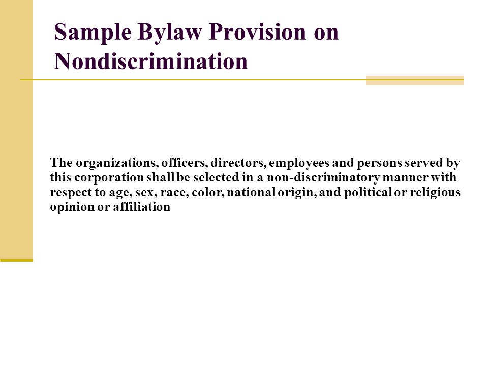Bylaws Template Bylaws And Board Governance October Ppt Download - Club Bylaws Example