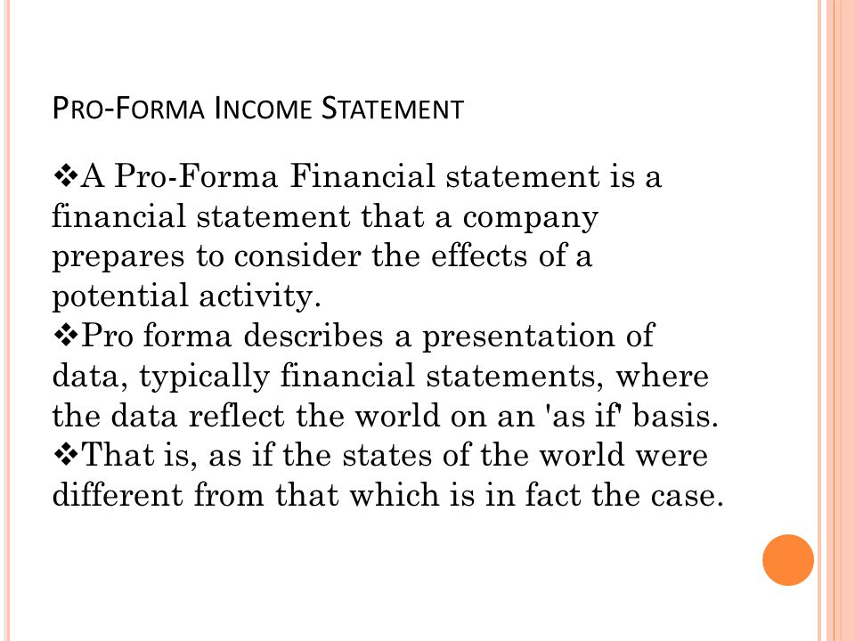 Sample Pro Forma Income Statement Income Statement Example For - microsoft income statement