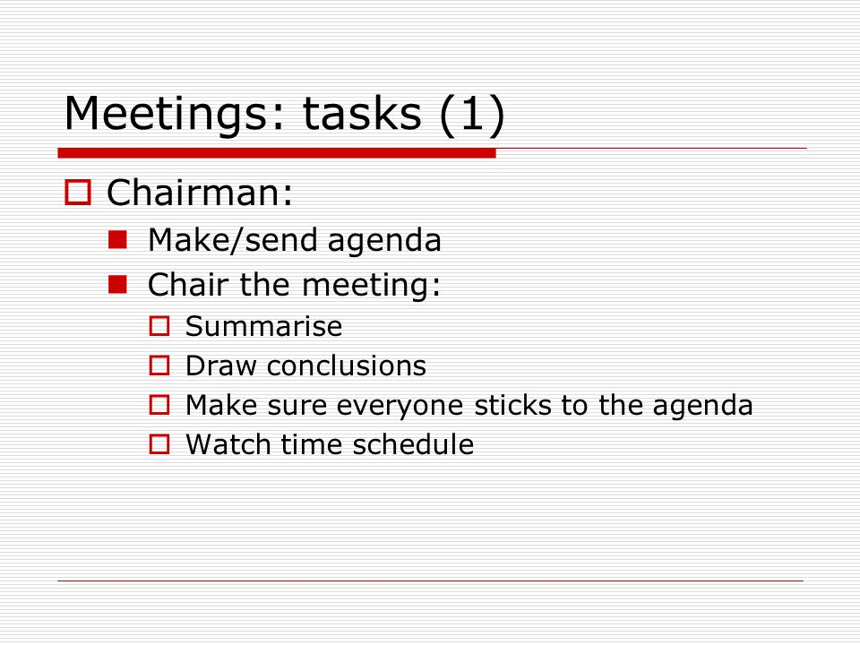 Meetings and minutes - ppt download - make an agenda