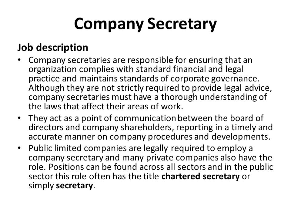 Recap Directors And The Manners A Person Become A Director - medical secretary job description