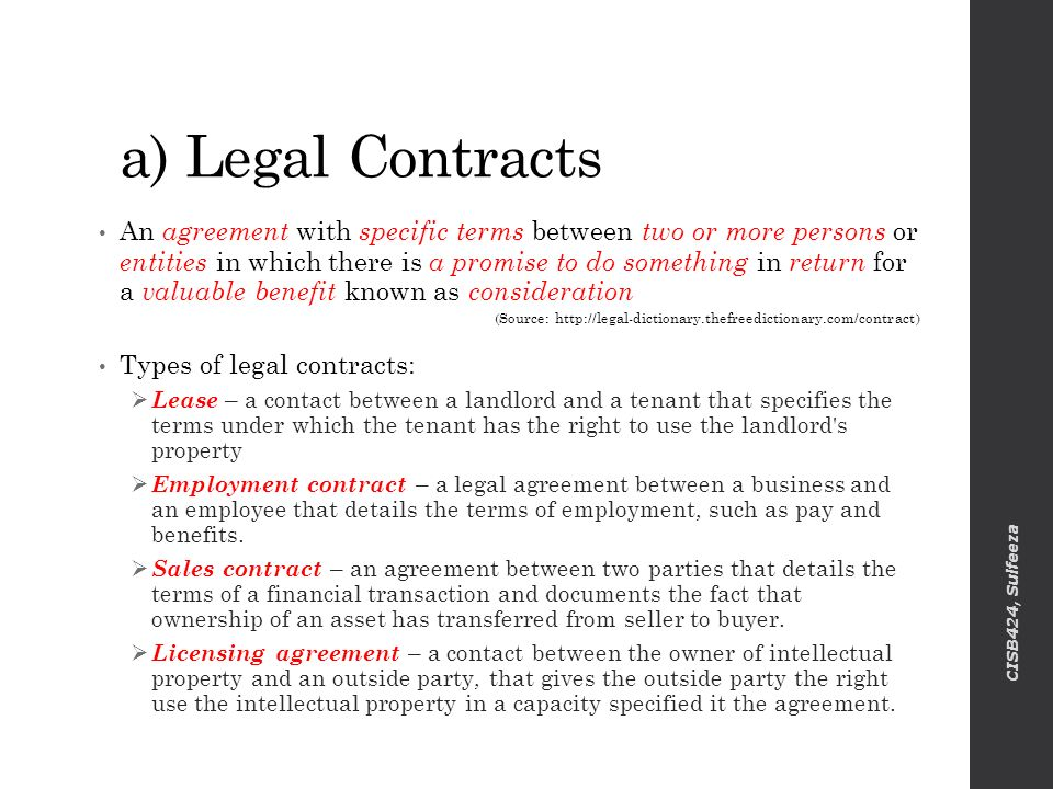 Legal Agreements Between Two Parties - Fiveoutsiders