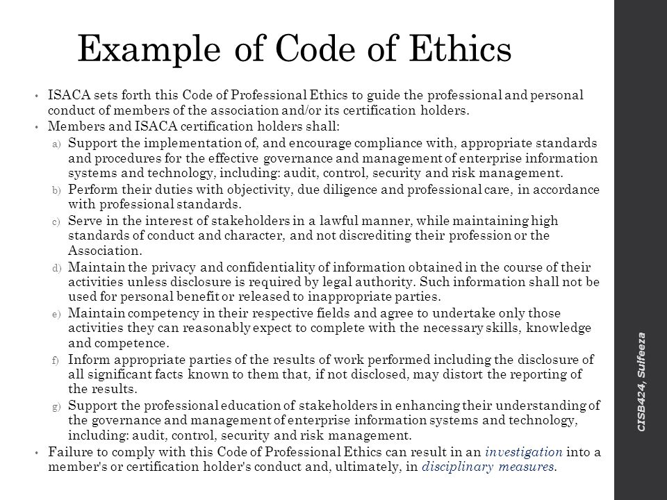 examples of code of ethics - Acurlunamedia - Code Of Conduct Example
