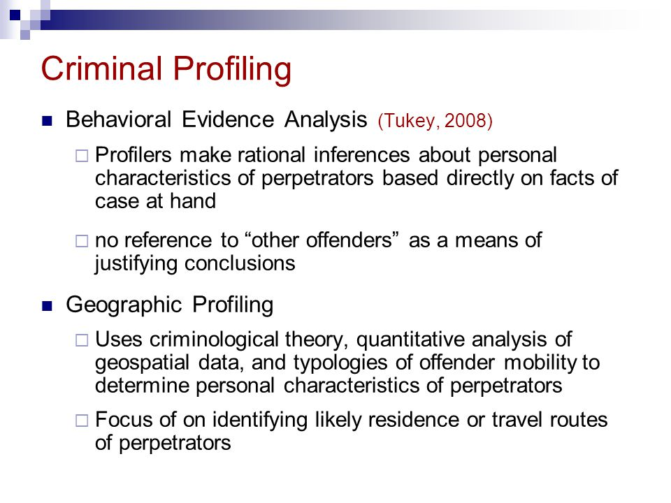examples of criminal profiling simon fraser university psyc