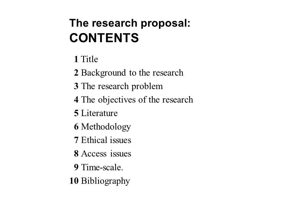 Lecture 4 THE RESEARCH PROPOSAL - ppt video online download