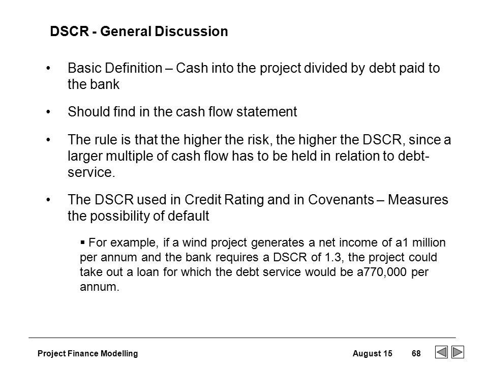 Using UCA Cash Flow to determine debt service coverage - mandegarinfo
