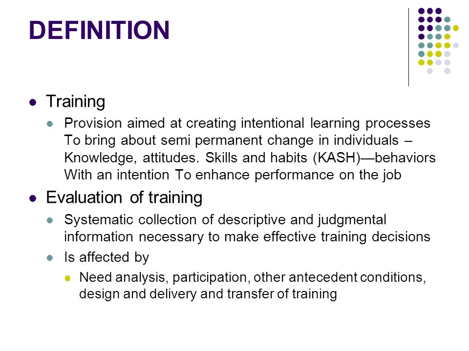 Evaluation of Training - ppt video online download