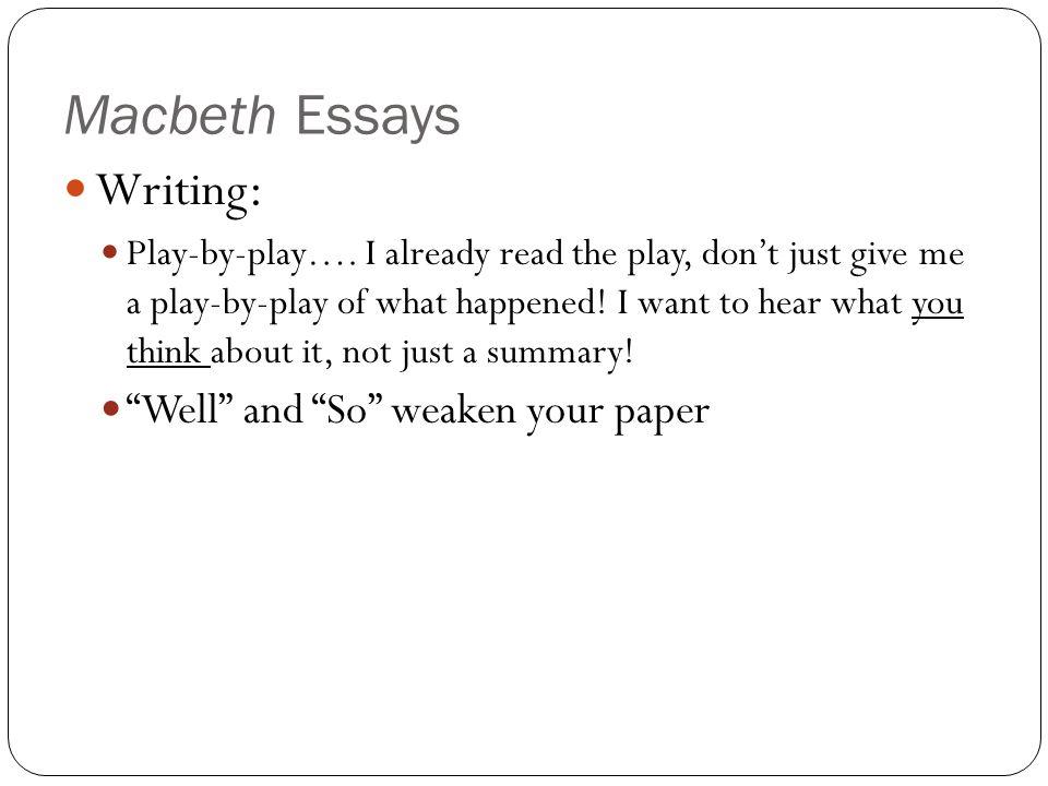 Macbeth power hungry essay