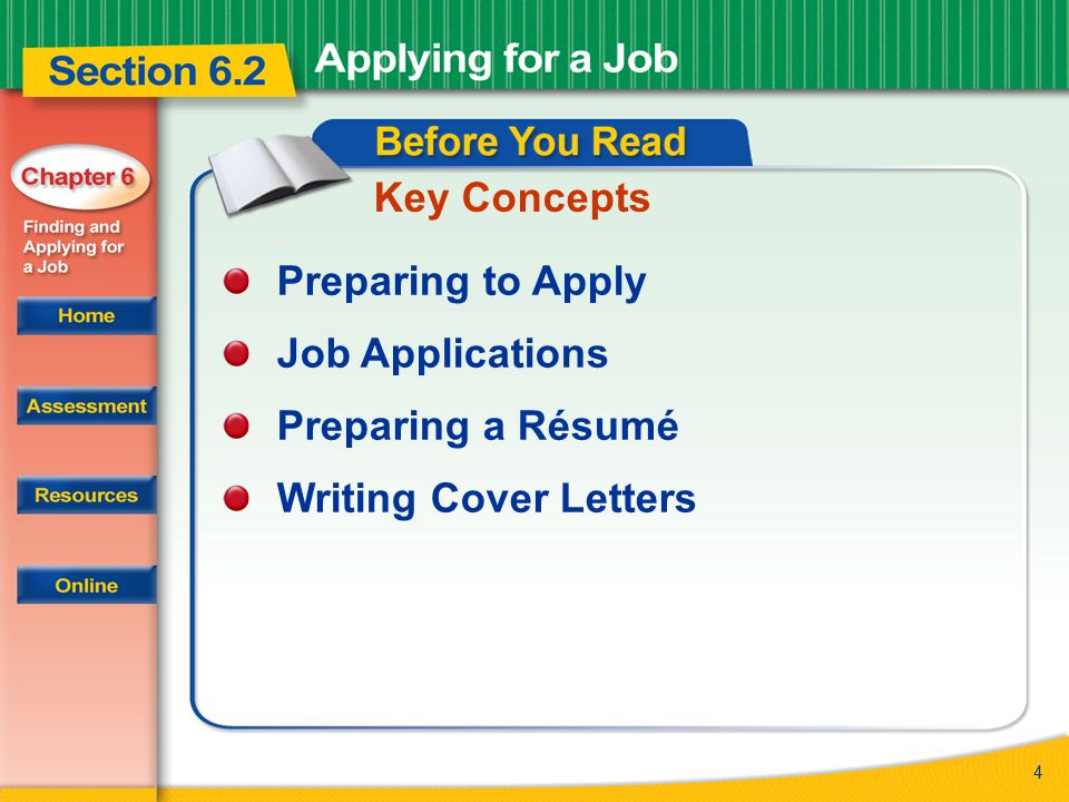 Read to Learn How to prepare for and complete a job application How