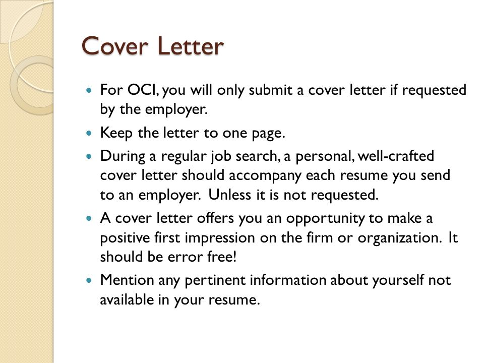 Nice Oci Cover Letter Images \u003e\u003e Resume Oci Application 28 Images Oci - oci cover letter