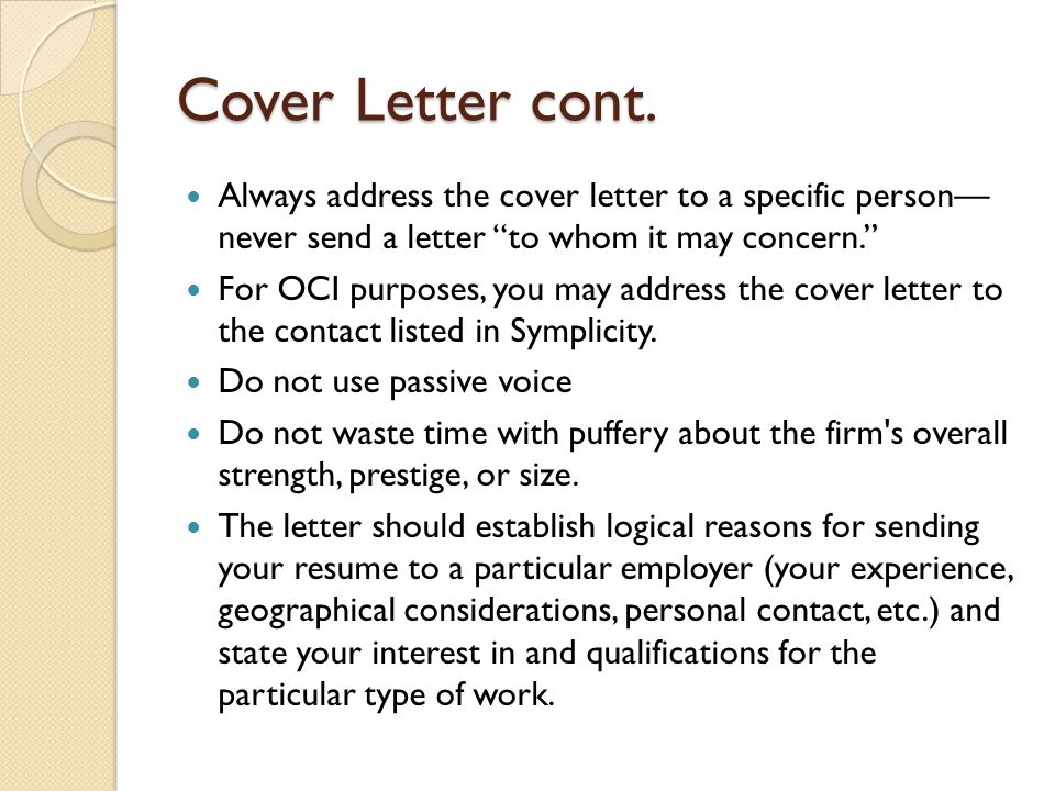 Upgrading Your Resume For On Campus Interviews Oci Ppt Ten Tips For - oci cover letter