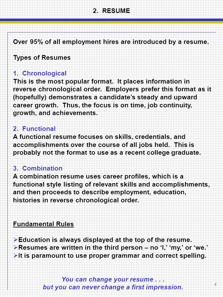 4 types of resumes hitecauto - 3 types of resumes