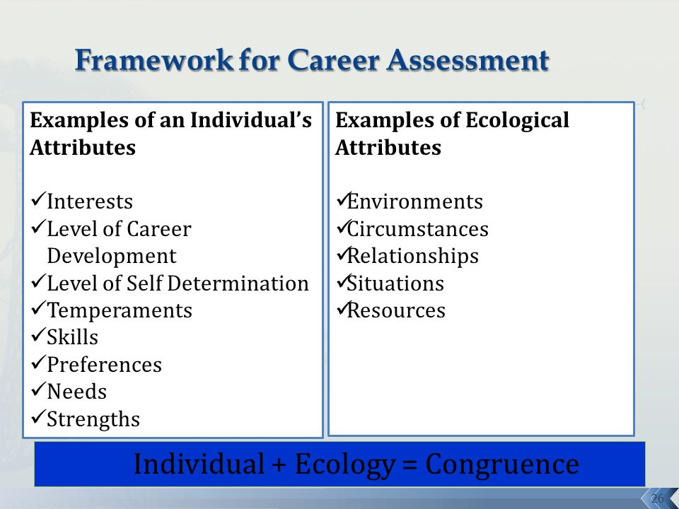 Making the Match Role of Career Assessment  Job Analysis - ppt - career strengths examples