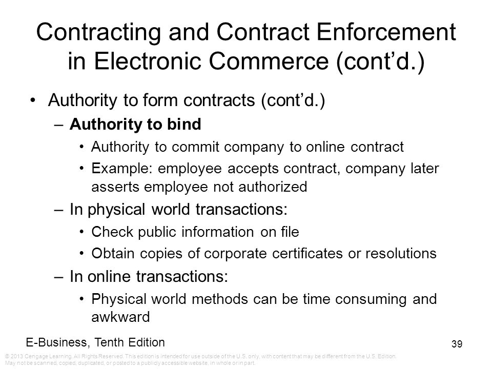 E-Business Tenth Edition - ppt download - business contract example