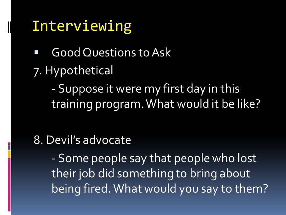 good questions to ask in a job interview - Baskanidai