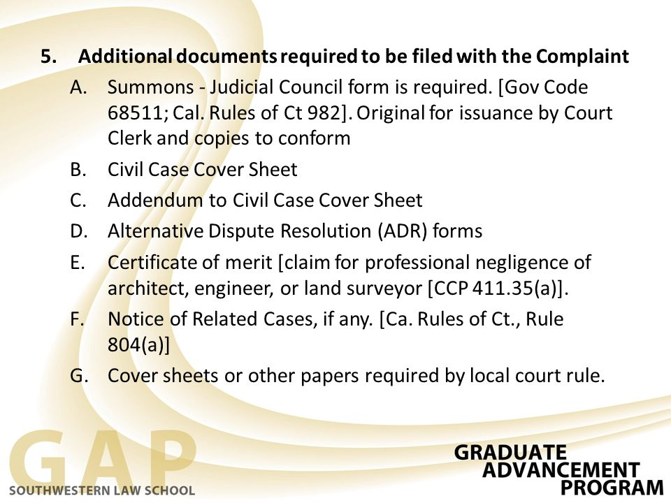 best Los Angeles Superior Court Civil Case Cover Sheet Addendum - Civil Summons Form