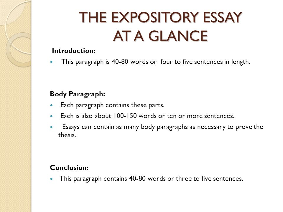 Expository essay 600 words - expository essays