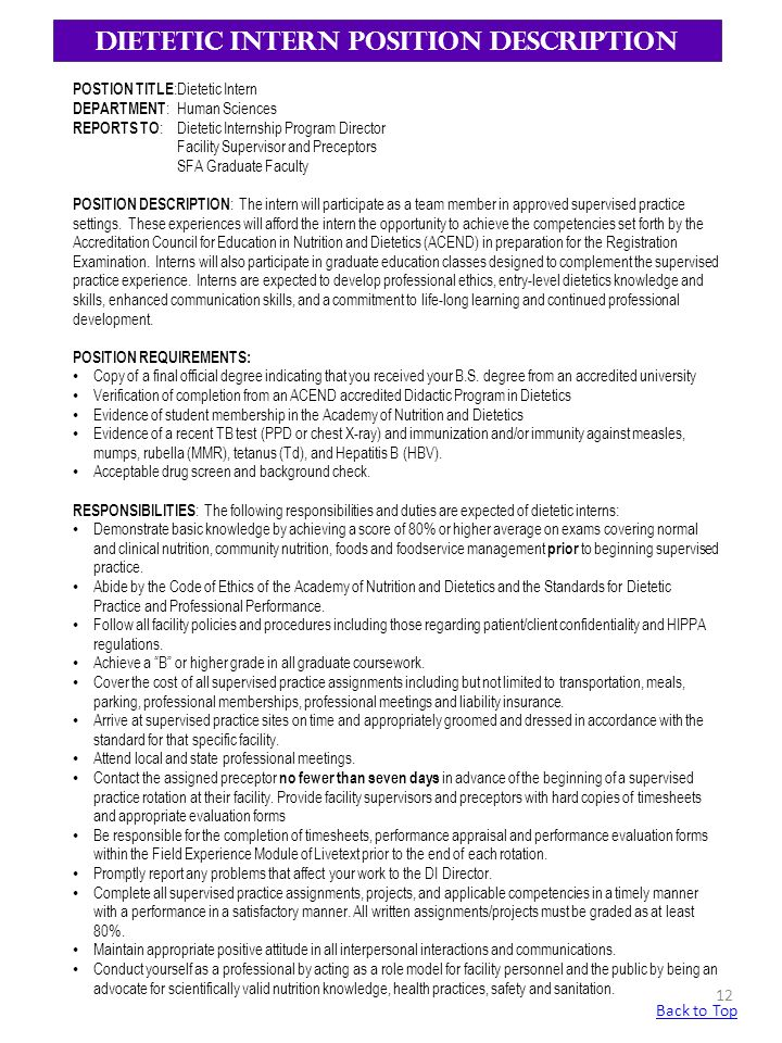 Nutritionist Resume Sample | kicksneakers.co