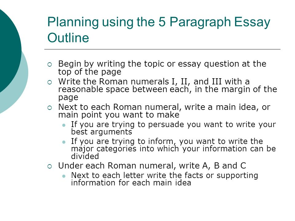 Beautiful 5 Paragraph Essay Format Outline Outlining A Five