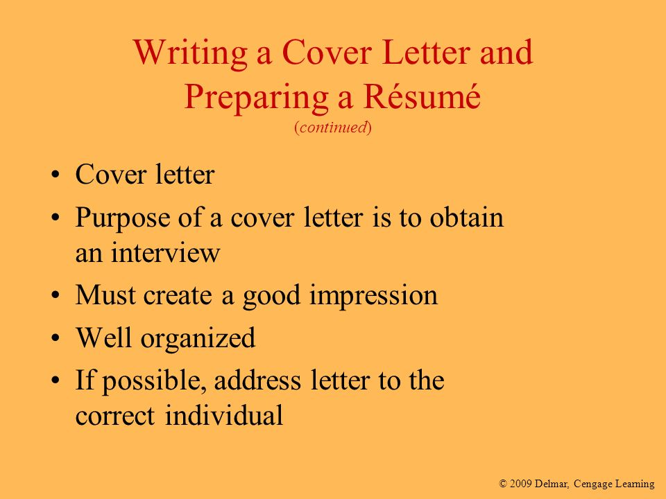 purpose of cover letter template