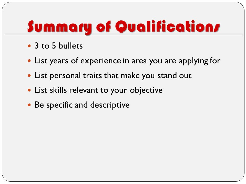 Beautiful Resume Qualifications List Ideas - Simple resume Office .