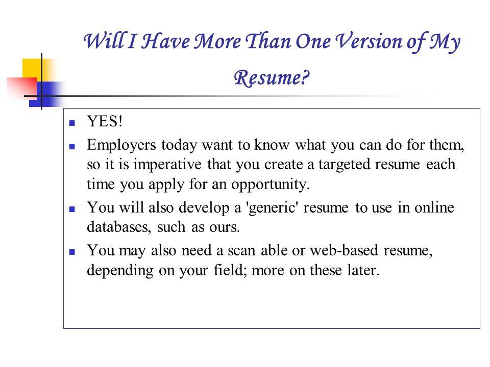 targeted resume definition