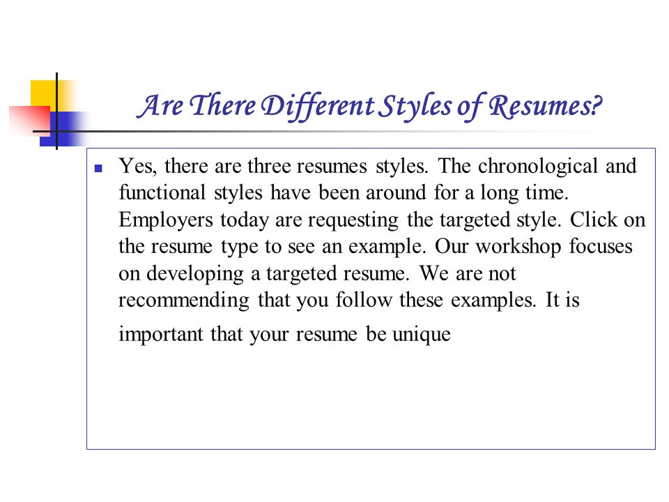 HOW TO WRITE A RESUME Presented By Dinorah Rodriguez - ppt video - different styles of resumes
