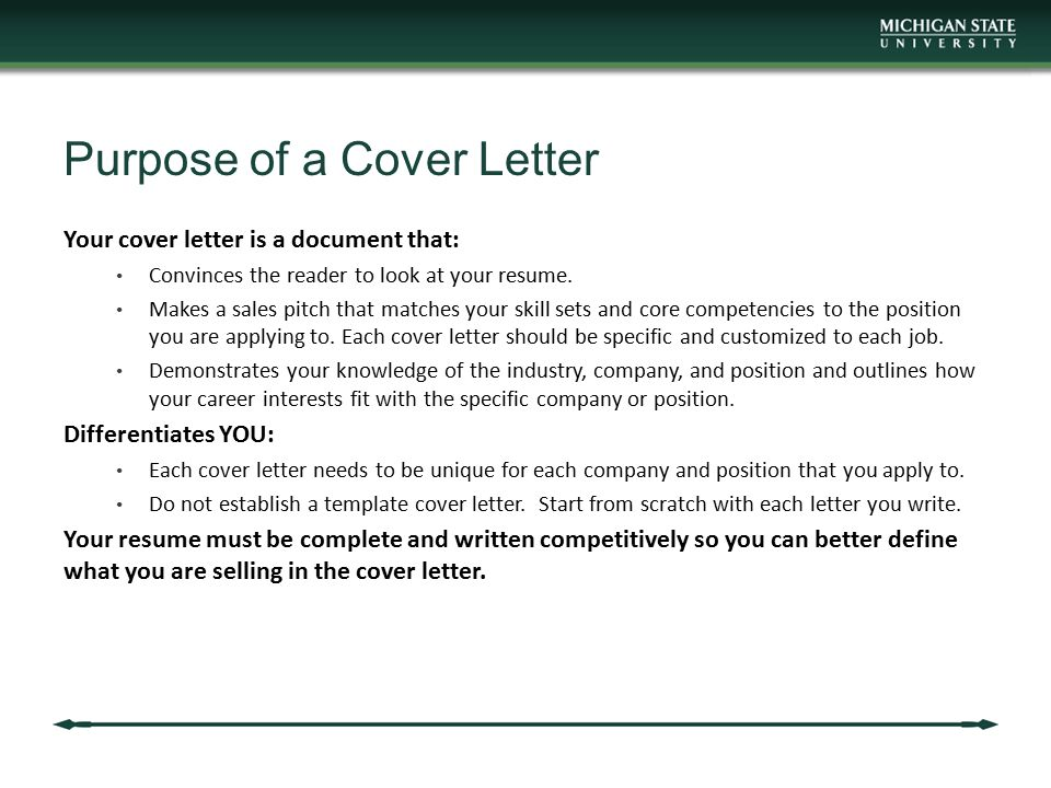 attachment purpose of cover letter