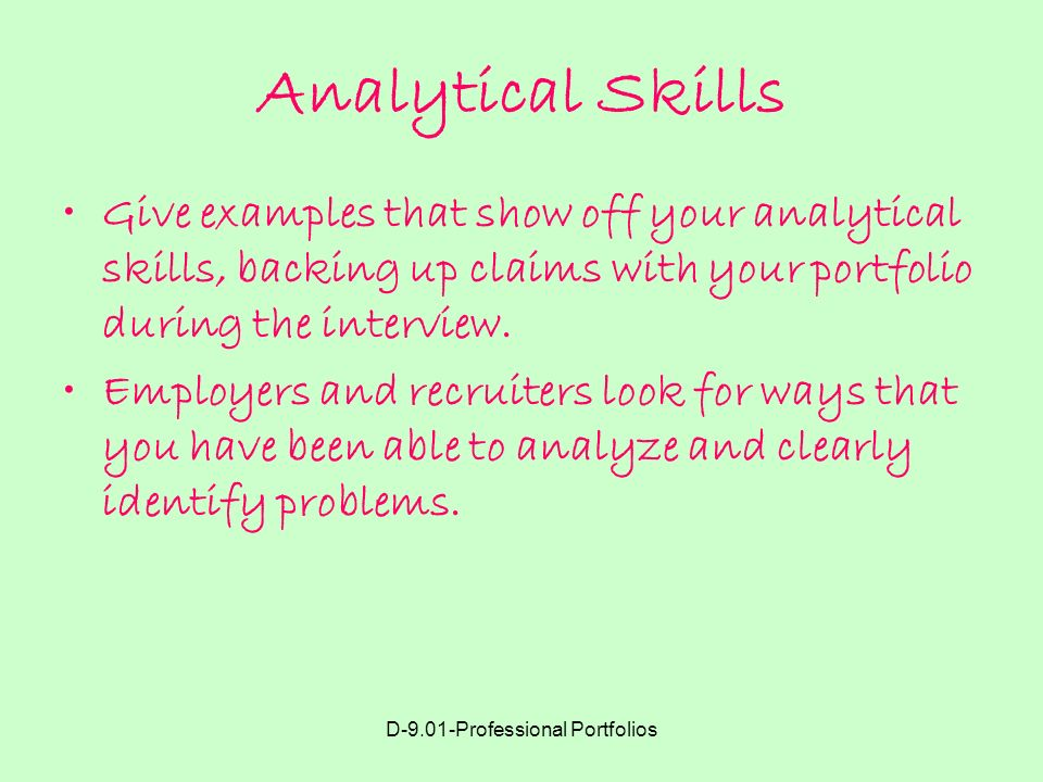 example of analytical skills for interview - Akbagreenw