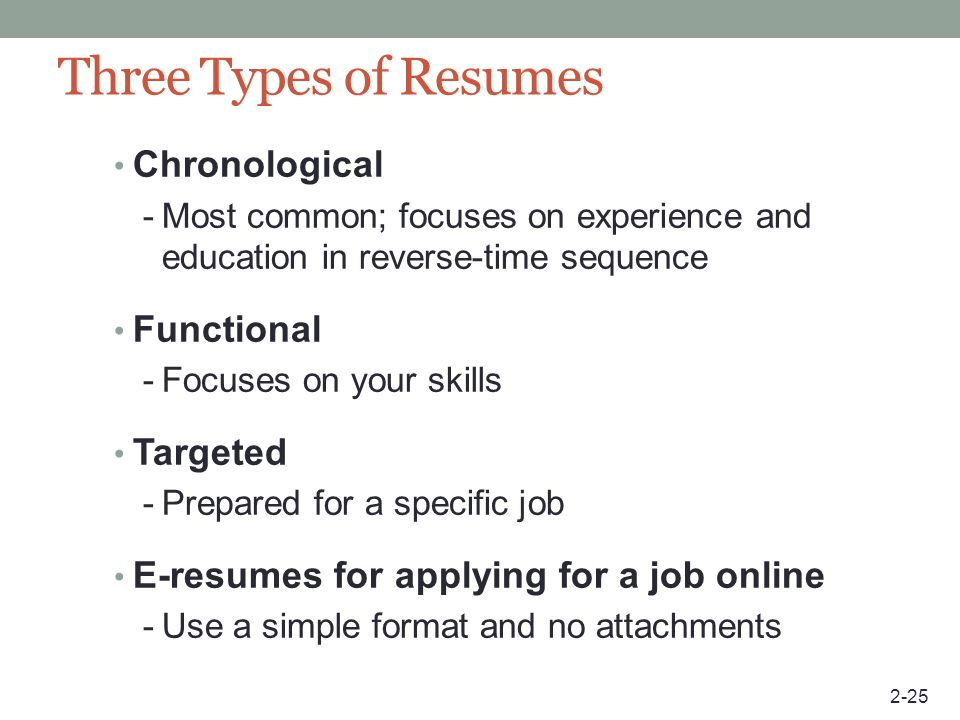 three types of resumes hitecauto - 3 types of resumes