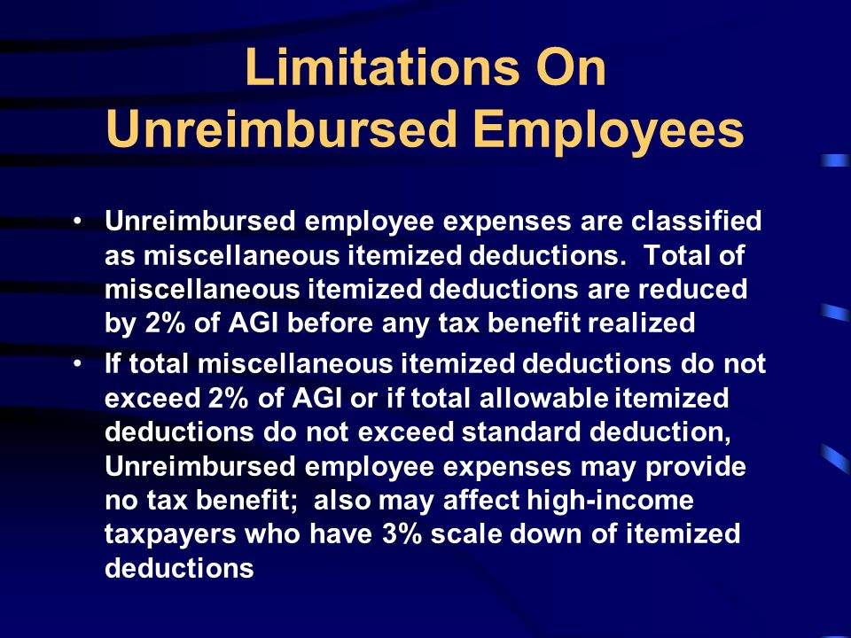 Employee Expenses and Deferred Compensation - ppt download