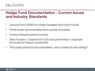 Hedge Fund Documentation - Current Issues and Industry Standards - ppt download