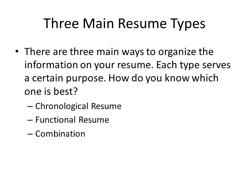 Three Types Of Resume Formats image of three types of letter - 3 types of resumes