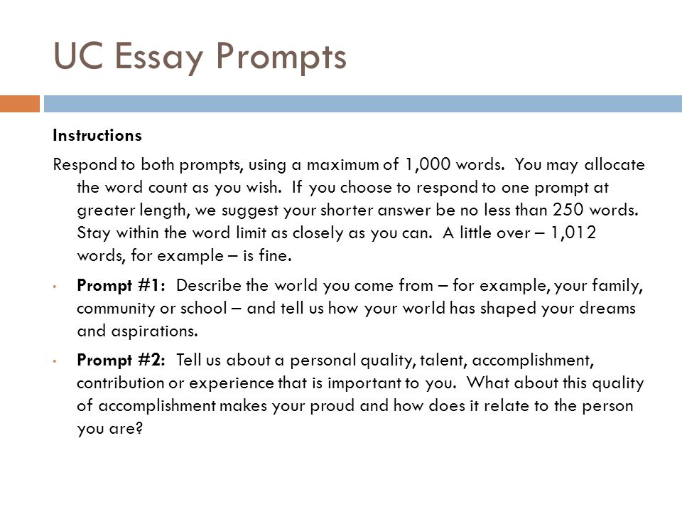 Uc personal essay prompts College paper Example - April 2019 - 1348