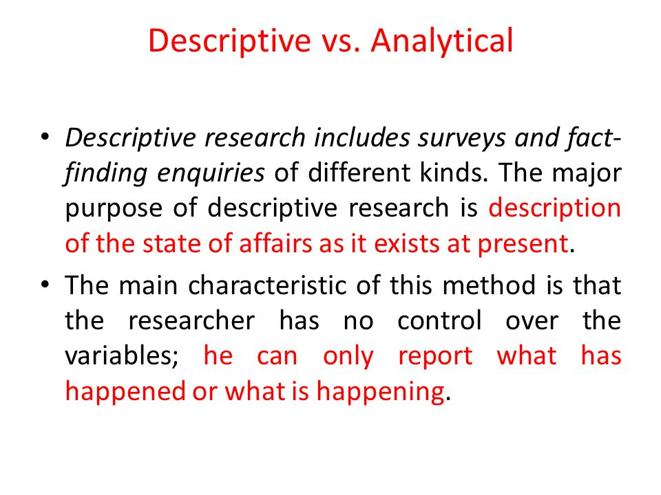Difference Between Analytical and Descriptive Analytical vs Descriptive