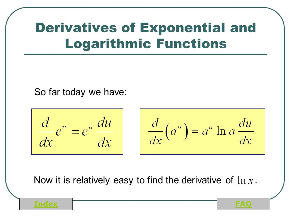 Derivative and exponential functions Homework Writing Service